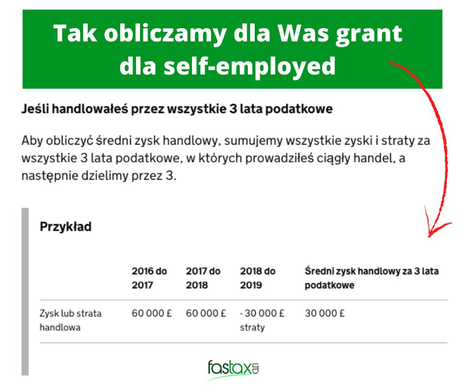 pomoc dla firm w uk grant dla self-employed